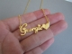 24 caret gold plated name chain (6 month guarntee)